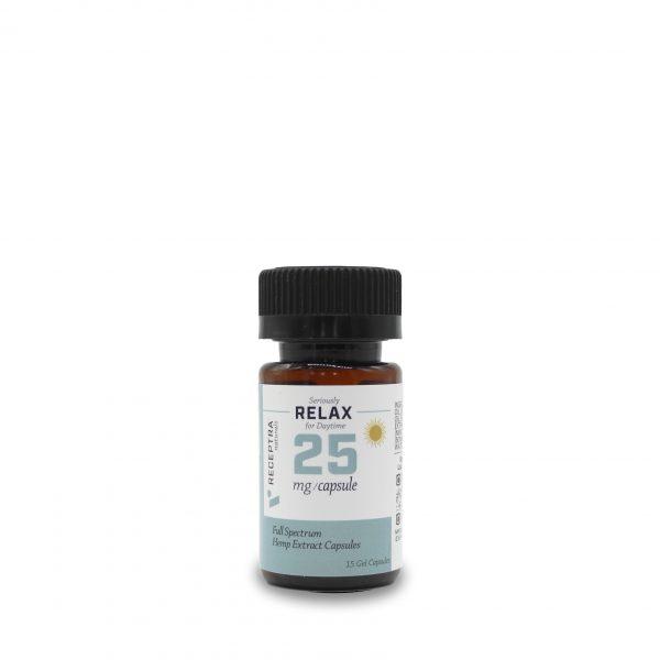 Seriously Relax Gel Caps | CBD Capsules | 25 mg / 15 Gel Caps